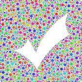 stock photo of harlequin  - Positive checkmark into a square icon - JPG