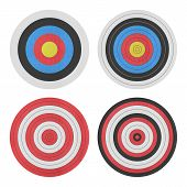 stock photo of shooting-range  - the paper cut of target icon for gun shooting sport and military on white background - JPG