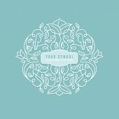 picture of monogram  - Vector abstract wedding monogram  - JPG