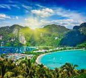 picture of phi phi  - Travel vacation background  - JPG