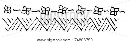 Abstract flower margin