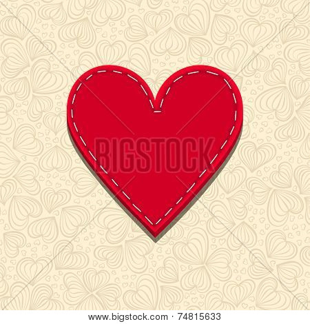 Needlecraft Heart, vector eps10 illustration