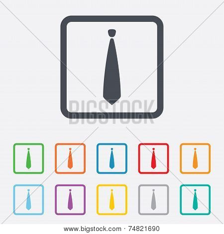 Tie sign icon. Business clothes symbol.