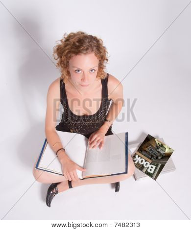Sitting Girl Reading