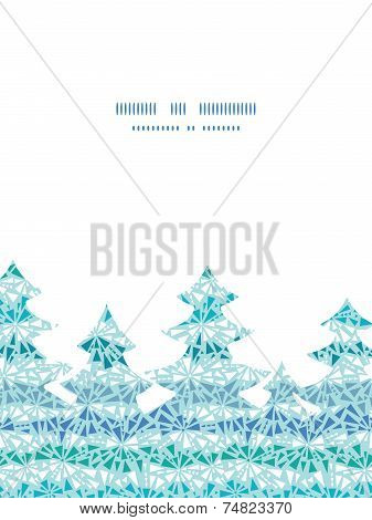 Vector abstract ice chrystals texture Christmas tree silhouette pattern frame card template