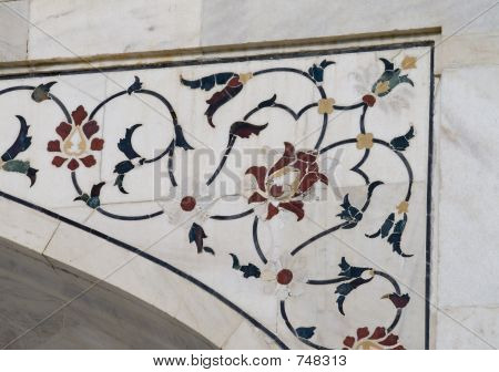 Taj Mahal, detail (ornamental pattern)