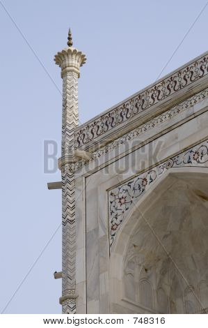 Taj Mahal, detail (turret)