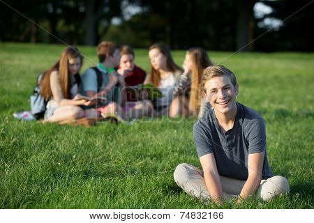 Cheerful Smiling Teen