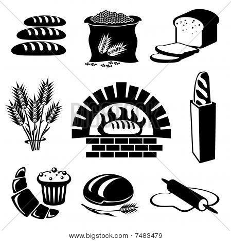 面包图标 库存矢量图和库存照片