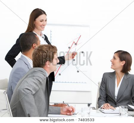 Confident Woman Doing A Presentation