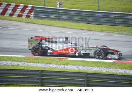 Jenson Button Of Vodafone McLaren Mercedes F1 Racing Team