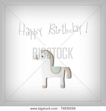 Vector happy birthday fun greeting card