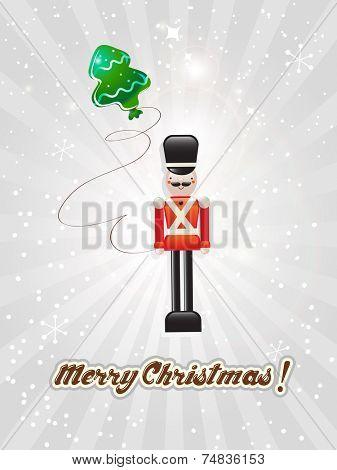 Vector Christmas greeting card, merry christmas.