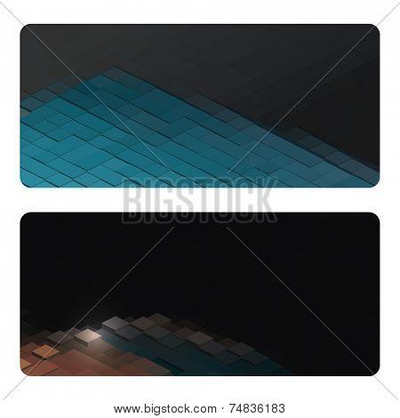 Vector business cards design set