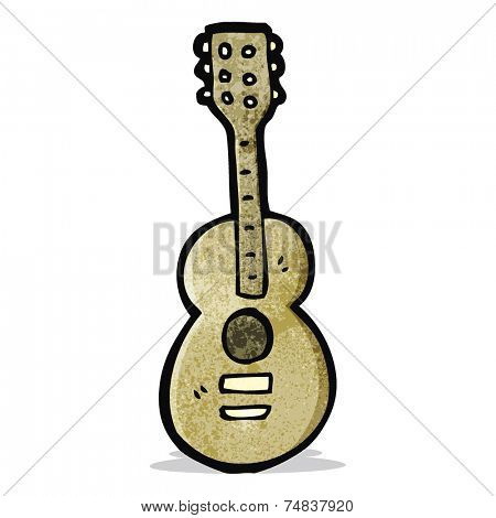 cartoon acoustic guitar
