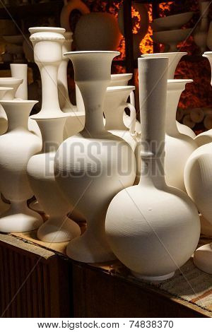 Greenware Vases And Pots