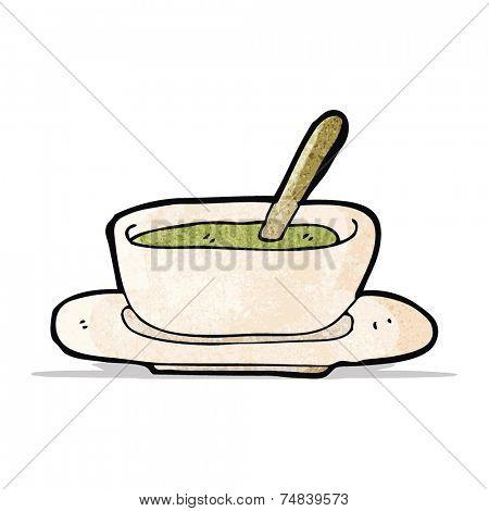 cartoon soup bowl