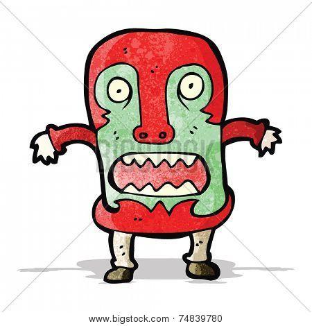 cartoon man wearing big mask