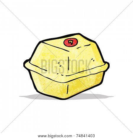 cartoon junk food carton