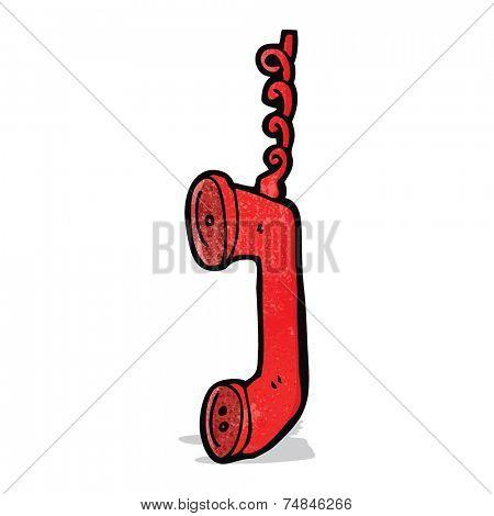 cartoon telephone receiver