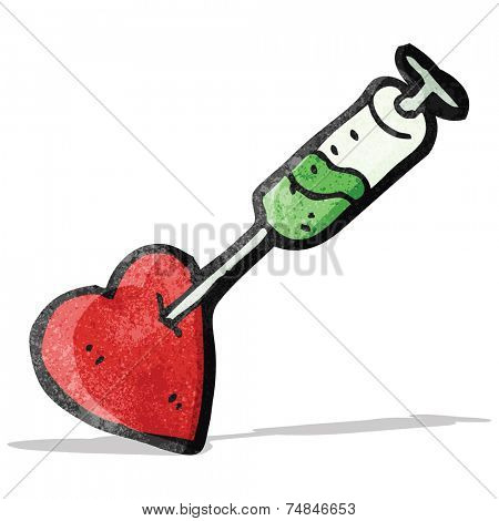 cartoon injection in heart