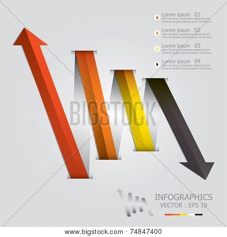 Modern Weaving Arrows Business Infographic