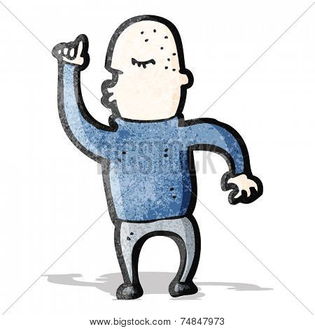 cartoon dancing bald man