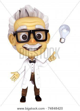 Professor with idea