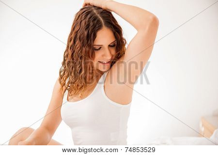 Cute Girl With Smooth Armpits