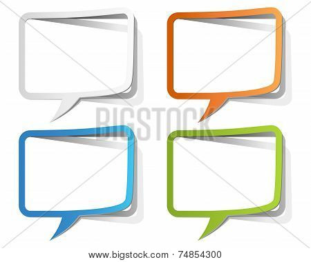 Colorful Speech Bubble Borders