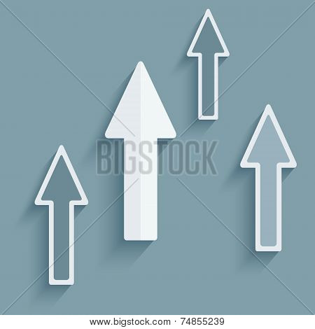 Realistic Design Element Of Arrow