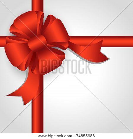 Red Ribbon Of Satin Ribbons