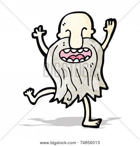 cartoon naked old man dancing
