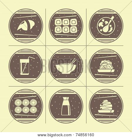 Japanese Cuisine Icons
