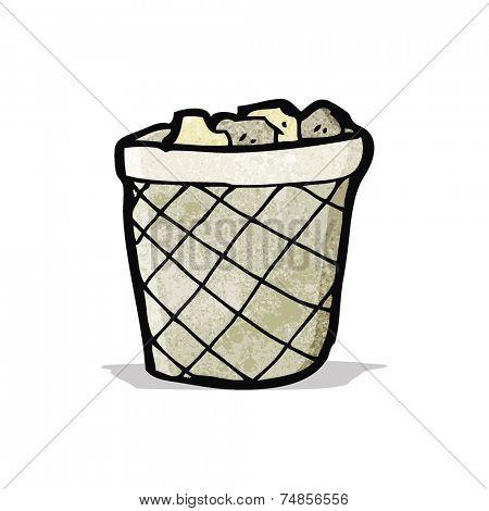 cartoon waste paper basket