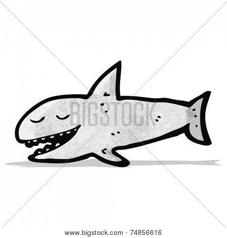 grinning cartoon shark