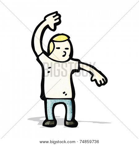 cartoon karate man