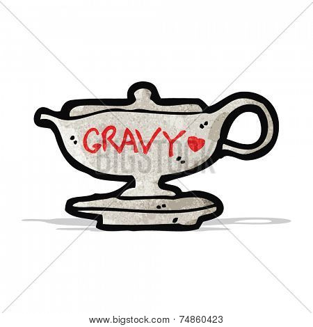 cartoon gravy boat