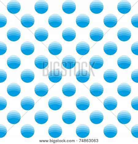 Seamless Geometric Pattern Of Circles In Different Shades Of Blue.
