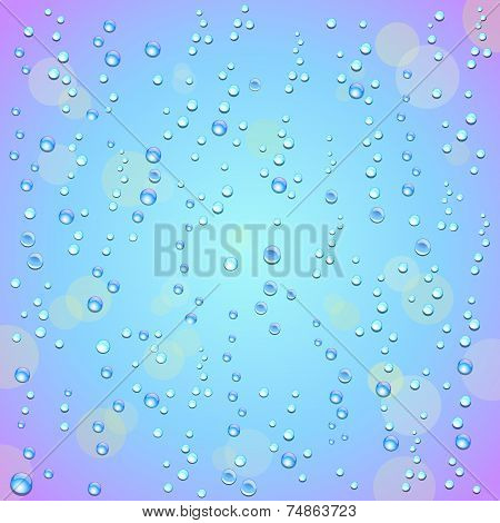 Droplets On A Colorful Soft Background