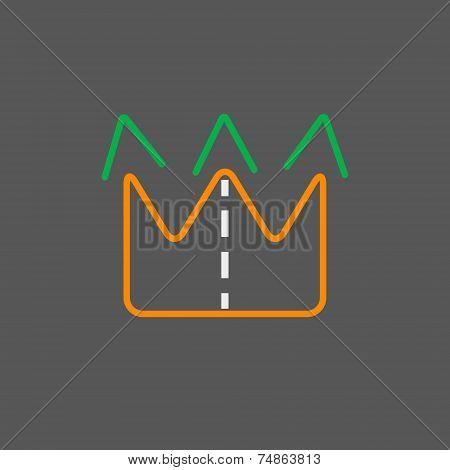 Arrow Logo Logistics Template On Gray