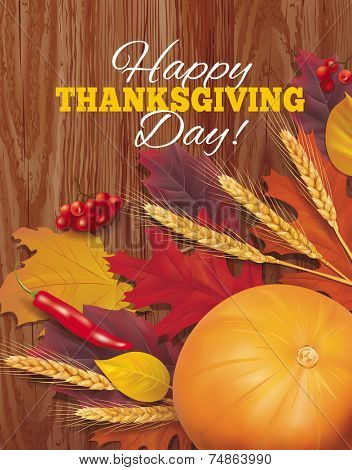 Happy Thanksgiving background. Vector eps 10.