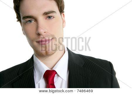 Handsome Young Businessman Portrait Tie Suit