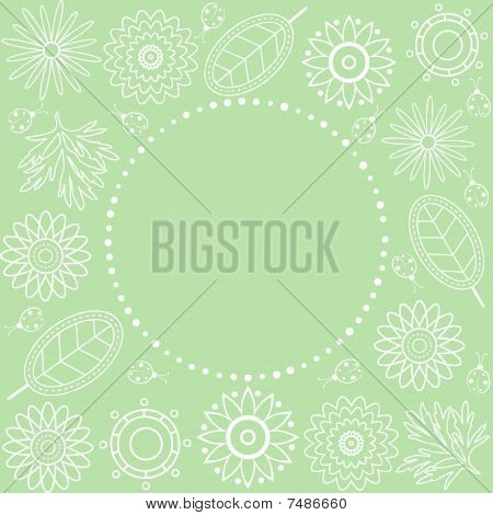 Green Floral Frame.
