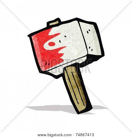 bloody hammer cartoon