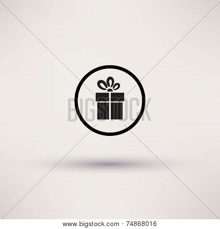 Pictograph of gift Vector icon Template for design.