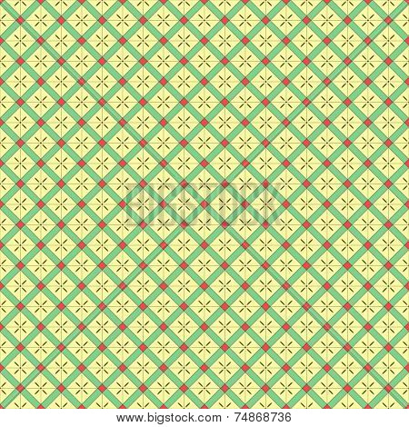 A Seamless Geometrical Grid Pattern - All colors grouped together, so can easily be changed - EPS 8