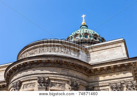 Dome Of The Kazan Cathedral In St. Petersburg