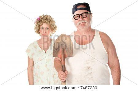 Senior Couple In Classic Pose.