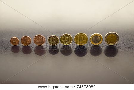 complete set of euro coins